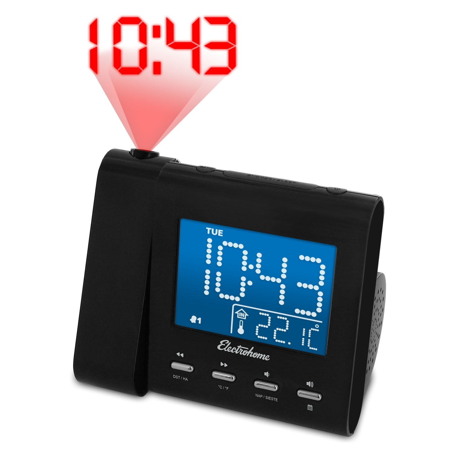 Projection Alarm Clock Radio - Main