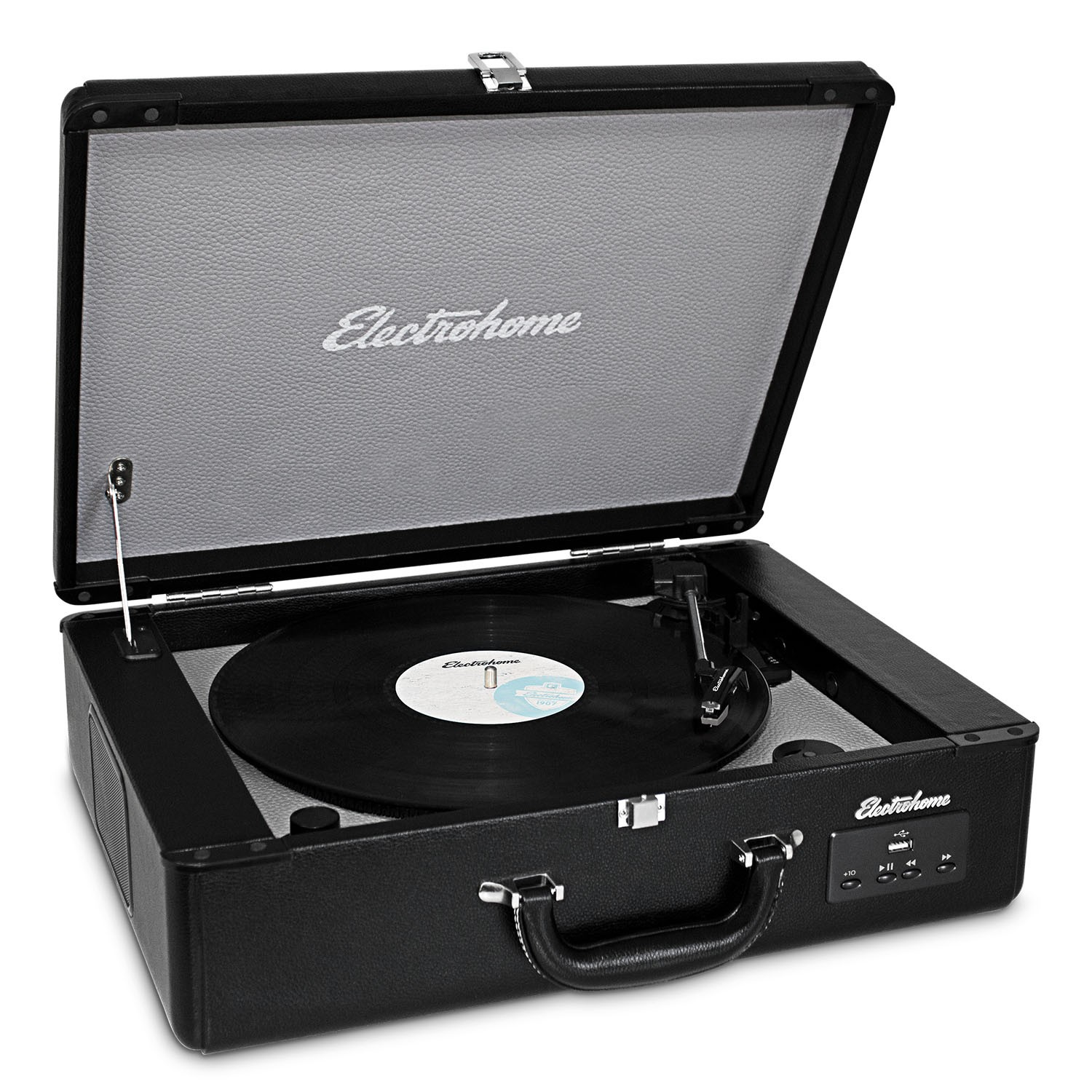 Electrohome  Archer Vinyl Record Player Classic Turntable front