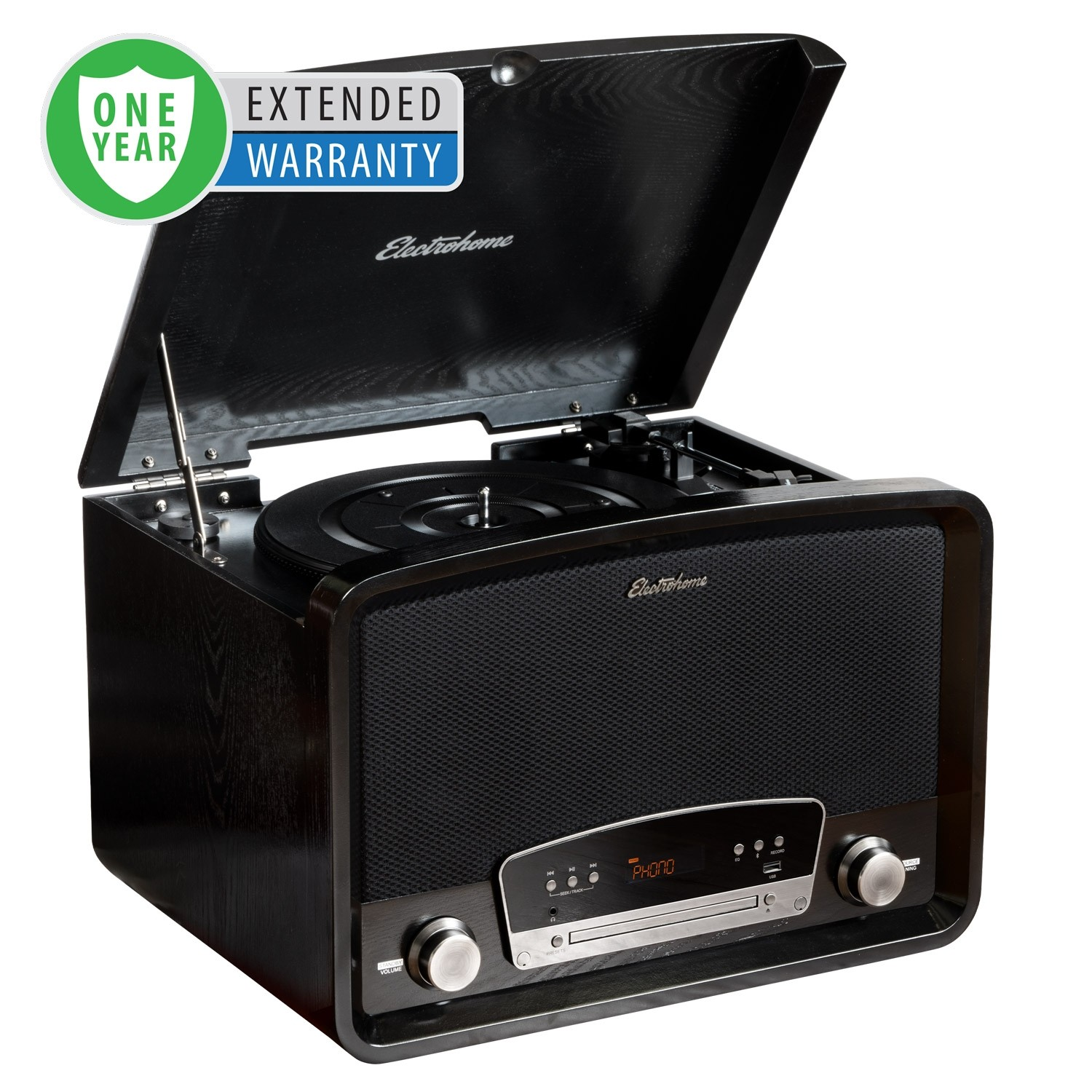 1 Year Extended Warranty for Kingston 7-in-1 Vinyl Record Player - Main Black