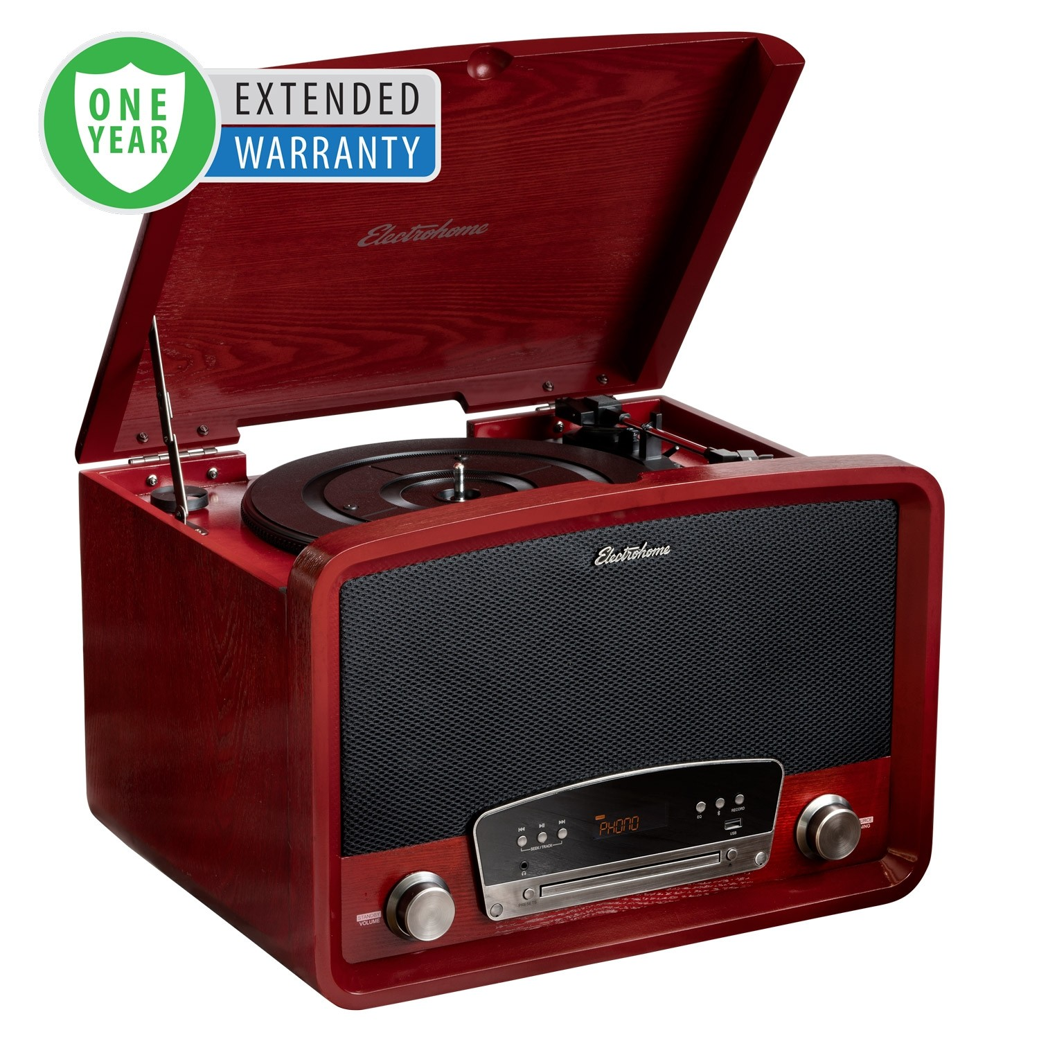 1 Year Extended Warranty for Kingston 7-in-1 Vinyl Record Player - Main Cherry
