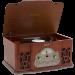 Winston Vinyl Retro record player - Alternate 1