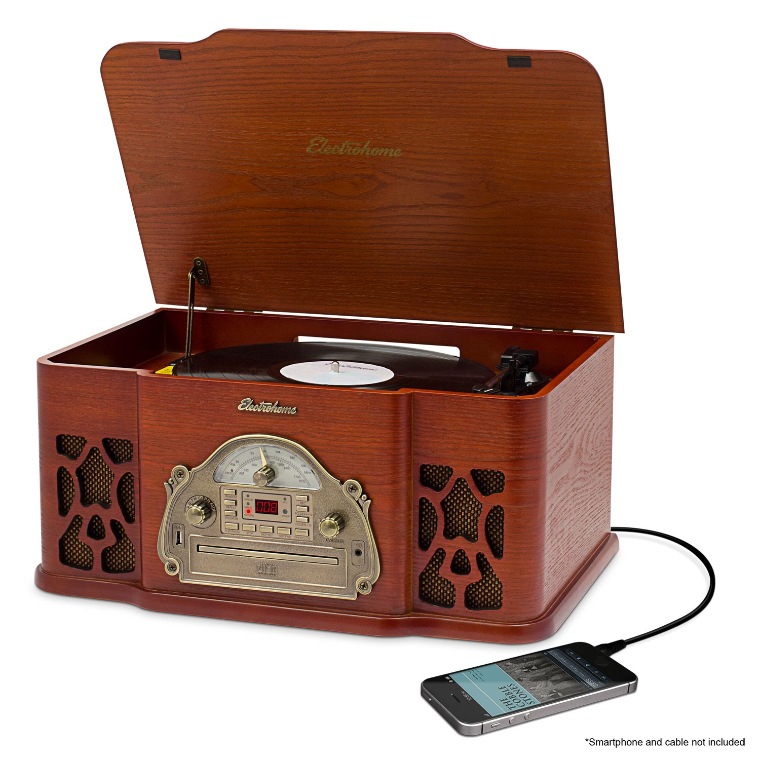 High Quality Wellington™ Record Player Retro Vinyl Turntable Stereo System