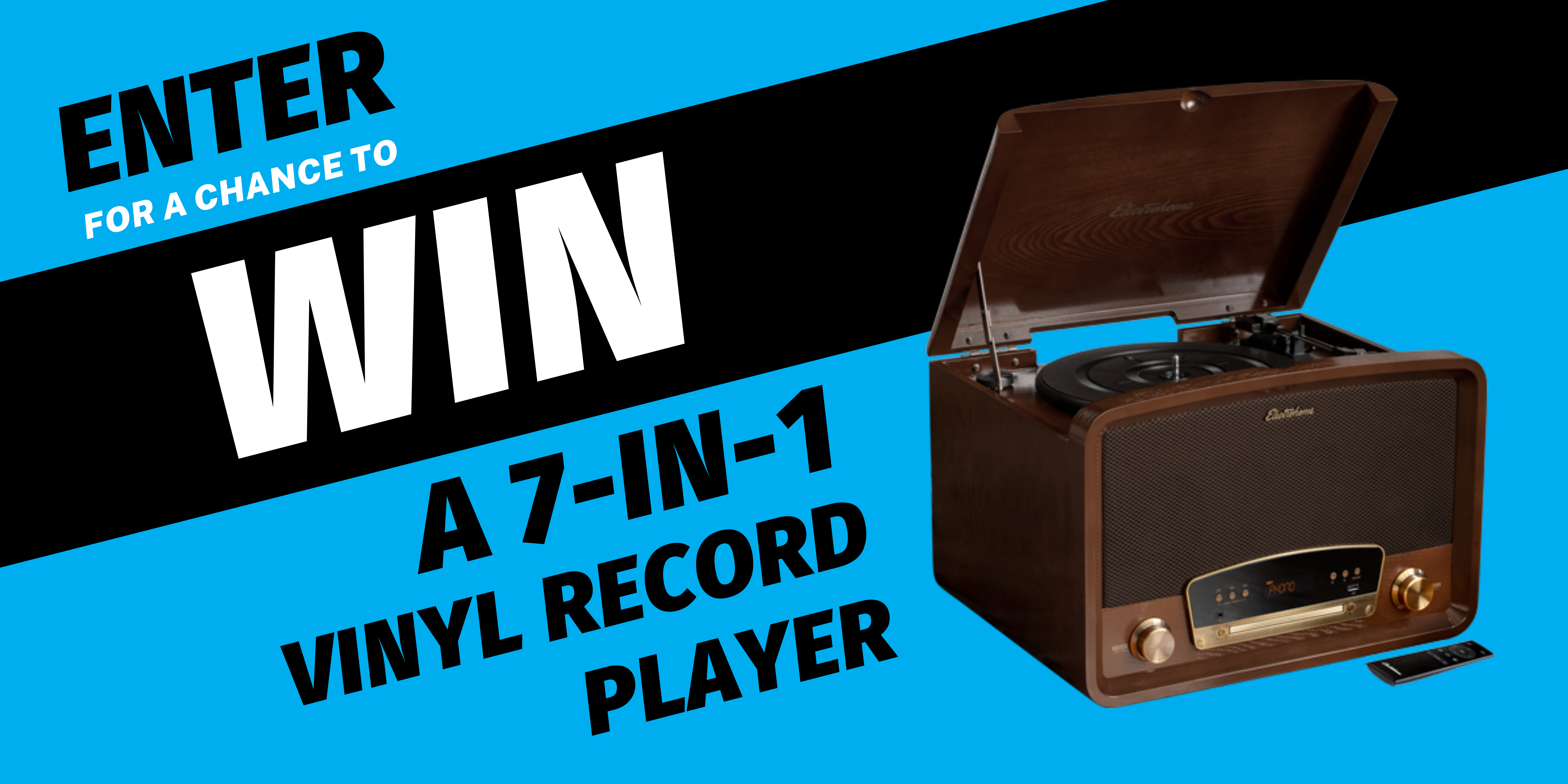 Electrohome Record Player Giveaway