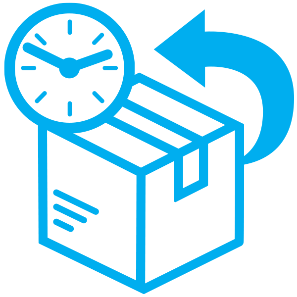 package return timing icon