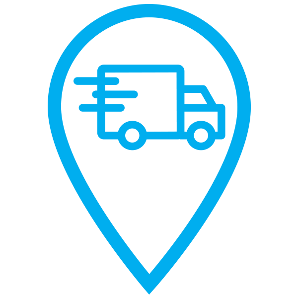 delivery truck order tracking icon