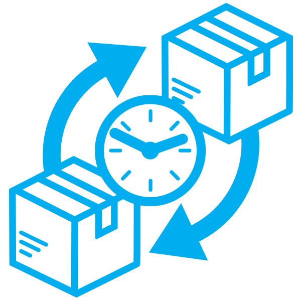 replacement process time icon